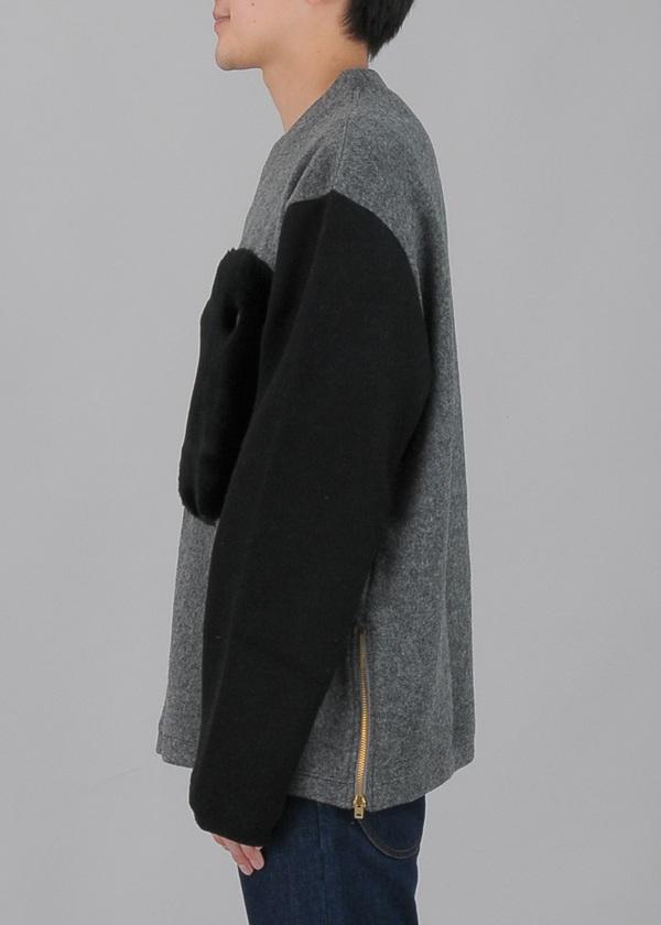 TSUMORI CHISATO / S メンズ ダブルフェイスウールジャージ / プルオーバー
