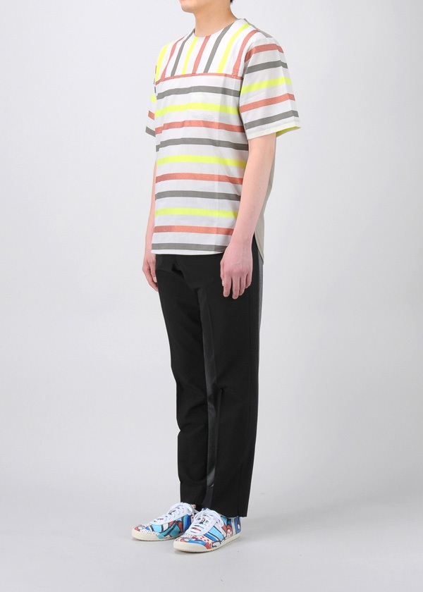 TSUMORI CHISATO / メンズ マルチラメストライプT / Tシャツ