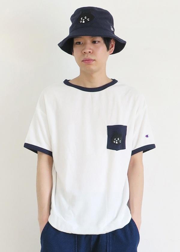 にゃー / S メンズ にゃーとチャンピオンのパイルTシャツ / Tシャツ