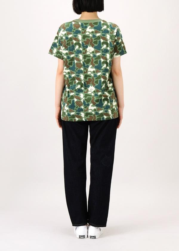 にゃー / S カモフラにゃーT / Tシャツ