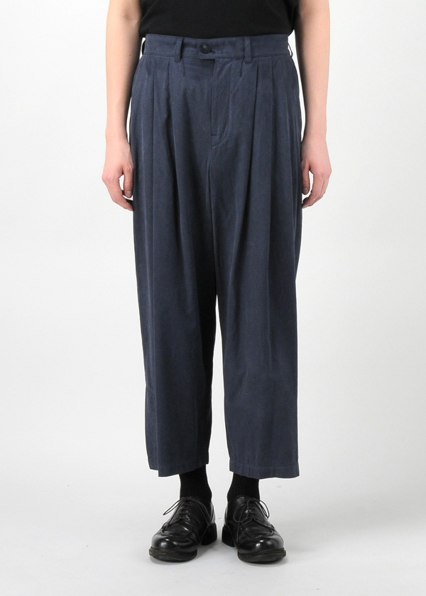 (O) 3 TUCK WIDE PANTS