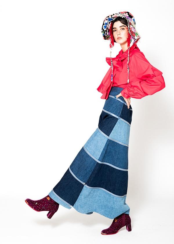 TSUMORI CHISATO / S ななめデニム / スカート