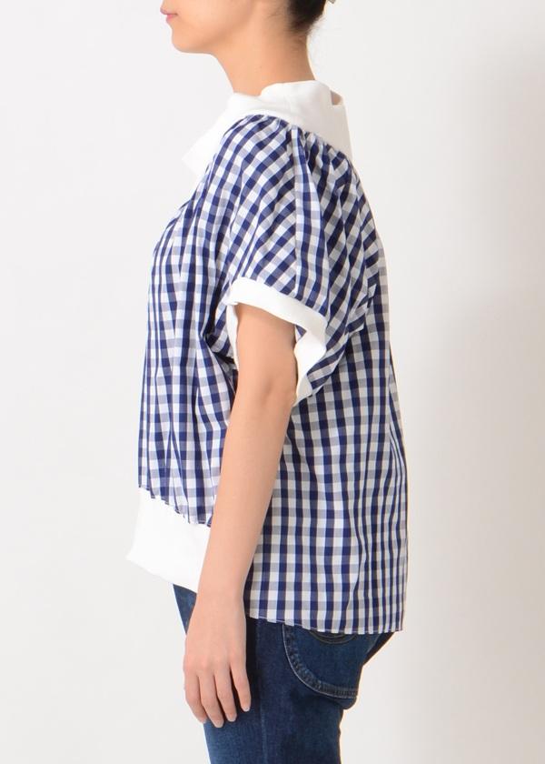 TSUMORI CHISATO / ギンガムドッキングT / カットソー