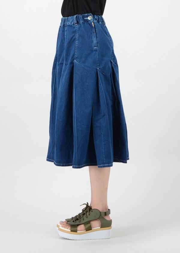 メルシーボークー、 / S プリーツデニム / デニムスカート