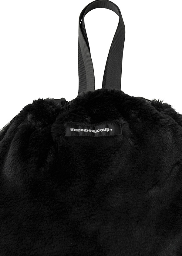 メルシーボークー、 / S 大巾着ファー / 2Wayバッグ