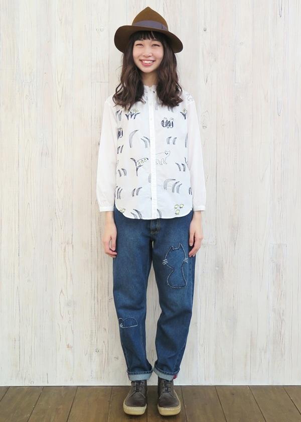 ネ・ネット / ねことしばふシャツ / シャツ