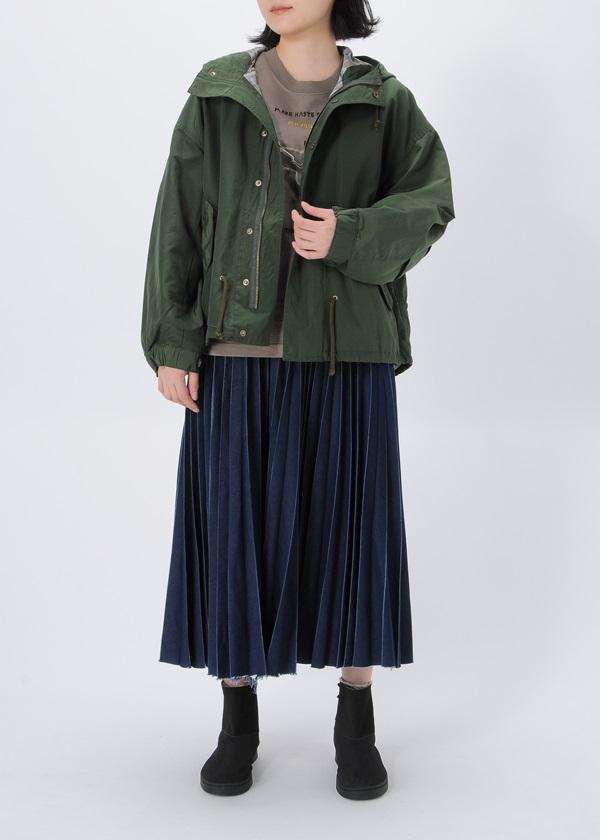 ネ・ネット / デニムプリーツ / スカート