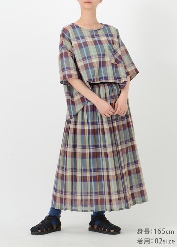 ネ・ネット / シースルーチェック / スカート