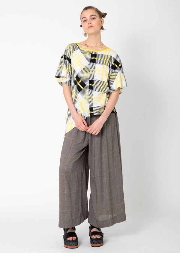 TSUMORI CHISATO / マニッシュチェックドッキング / パンツ