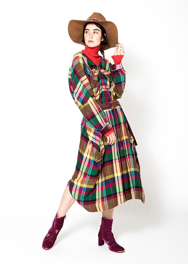TSUMORI CHISATO / S マドラスチェック / スカート