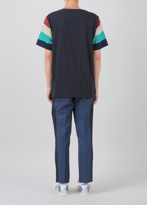 TSUMORI CHISATO / S メンズ マルチボーダーT / Tシャツ