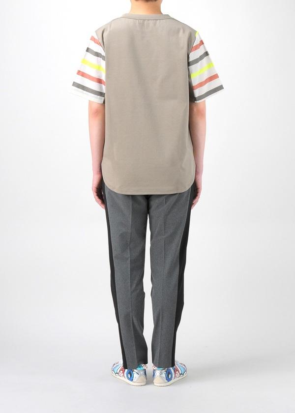 TSUMORI CHISATO / S メンズ マルチラメストライプT / Tシャツ