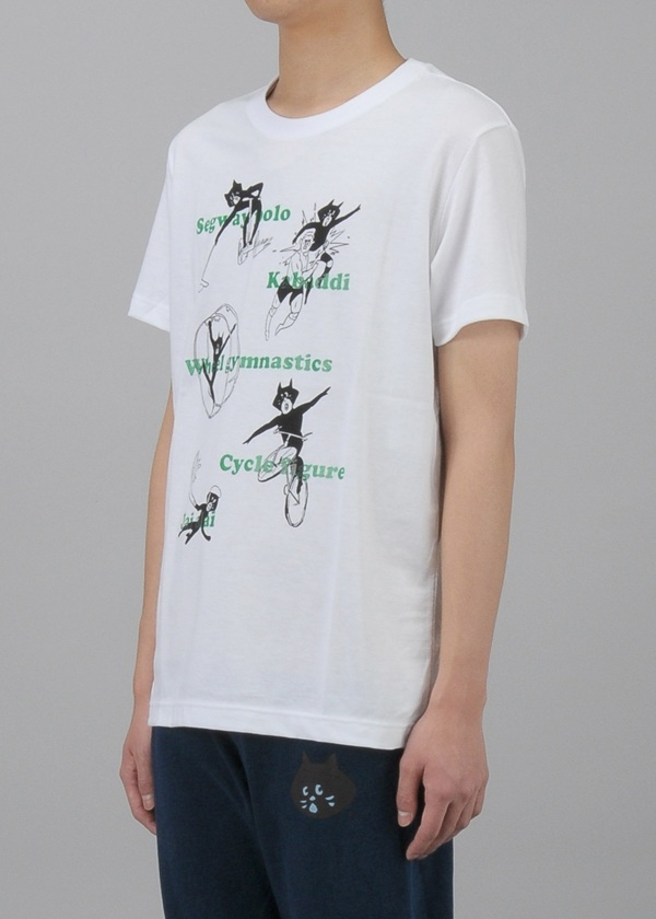 にゃー / スポーツにゃーまん T / Tシャツ