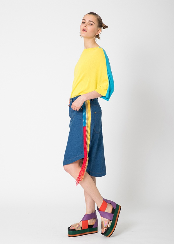 TSUMORI CHISATO / S カルゼデニム / スカート