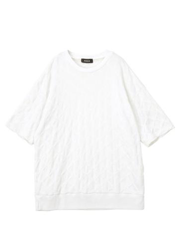 ZUCCa / S メンズ サークルジャガード / 半袖Tシャツ