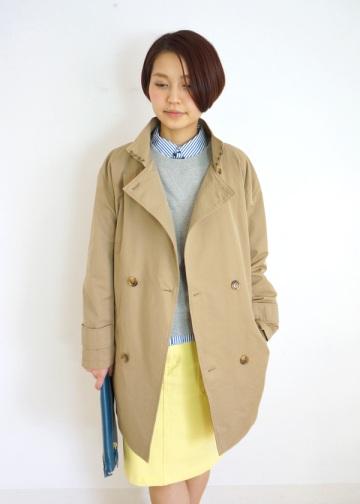 【SALE】kuskus / S トレンチコート / コート beige(03)
