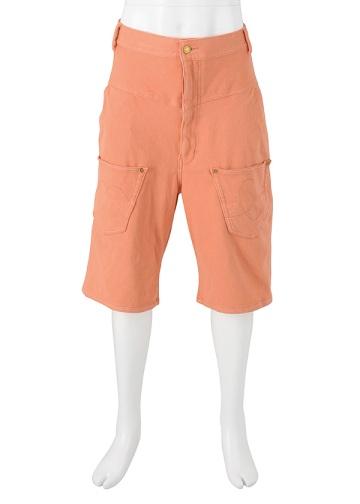 【SALE】メルシーボークー、 / S メンズ のびストレッチ / ハーフパンツ orange(20)