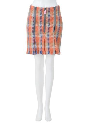 【SALE】メルシーボークー、 / S ツイドチェック / スカート pink(18)