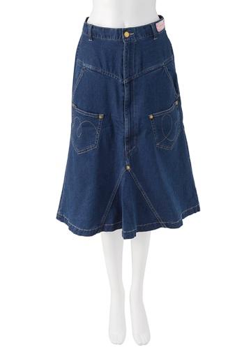 【SALE】メルシーボークー、 / S ストデニ / スカート blue(12)