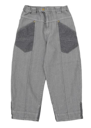 メルシーボークー、 / メンズ へリンボンデニム / パンツ