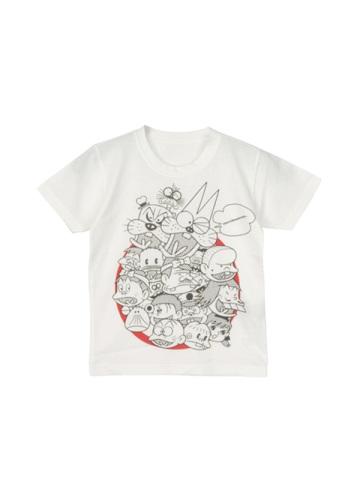 メルシーボークー、 / キッズ S:全員集合ティー / Tシャツ