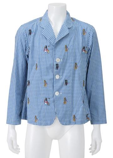 【SALE】ネ・ネット / S メンズ ひかりの国シャツ / ジャケット blue(12)