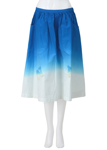 【SALE】ネ・ネット / S NYオンブレー / スカート blue(12)