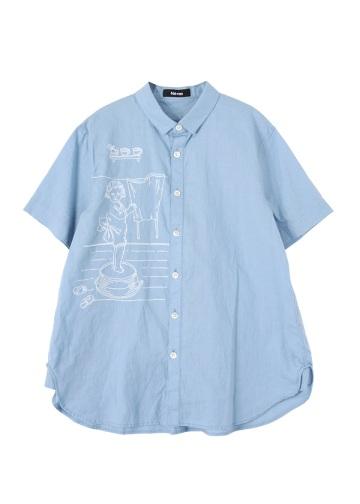 リネンランドリーシャツ