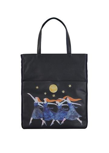 ネ・ネット / 夜の森のダンス革小物 / トートバッグ