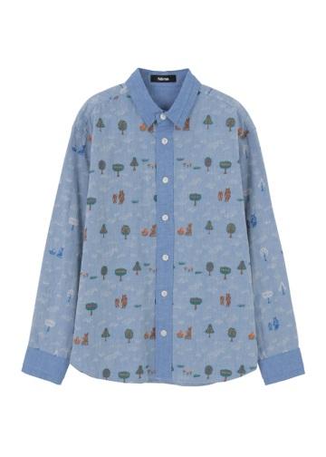 ネ・ネット / くまと木の実シャツ / シャツ