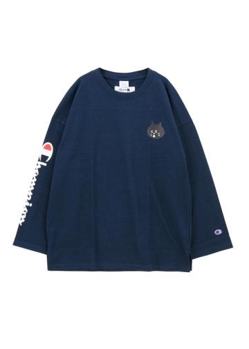 にゃー / にゃーとチャンピオンのロングTシャツ / カットソー