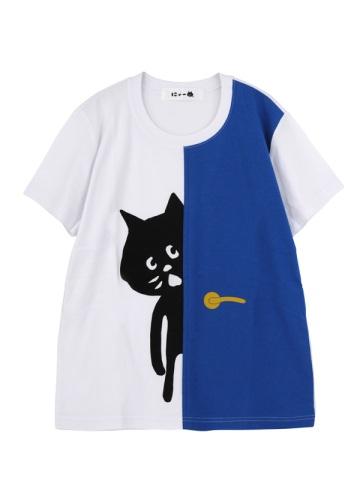 にゃー / ドアからにゃーT / Tシャツ