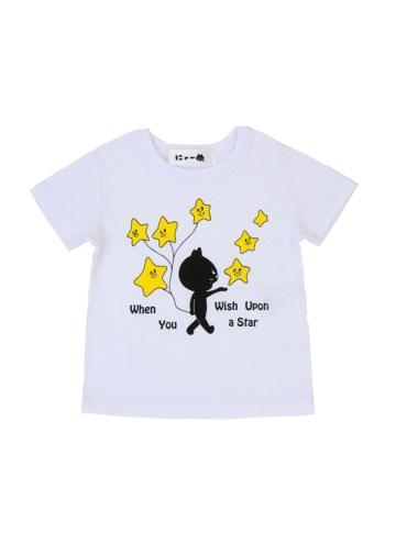 にゃー / キッズ ほしにねがいをにゃー T / キッズTシャツ