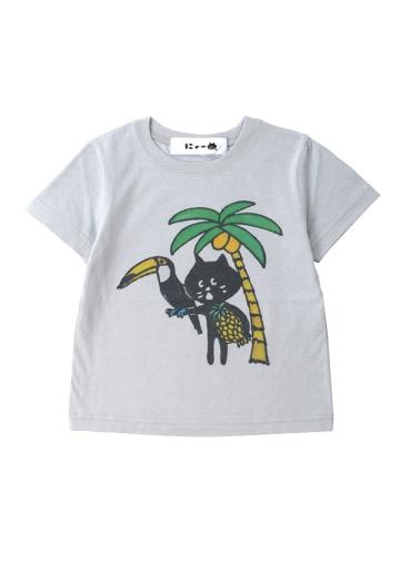 にゃー / S キッズ からふるりぞーとにゃーT / Tシャツ