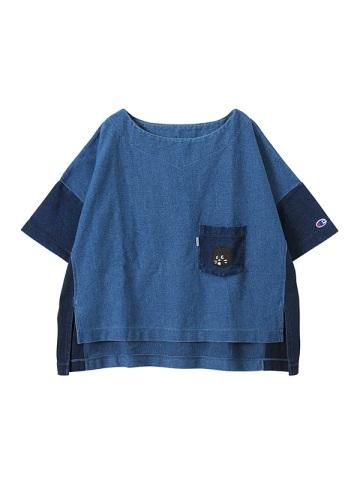 にゃー / S にゃーとチャンピオンのデニムT / Tシャツ