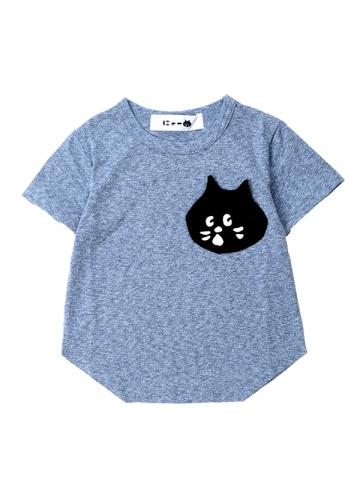 にゃー / キッズ にゃーかおポケットT / Tシャツ