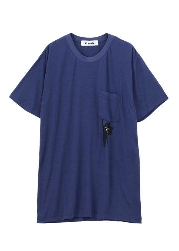 にゃー / メンズ ぶらさがりにゃーポケT / Tシャツ