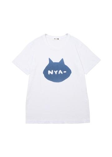 にゃー / メンズ シルエットNYA - T / Tシャツ