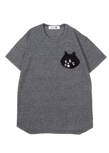 <先行予約> メンズ にゃーかおポケットT / Tシャツ