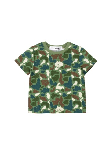 にゃー / S キッズ カモフラにゃー T / Tシャツ