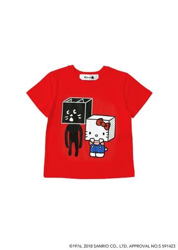 にゃー / S キッズ はこからにゃーとHELLO KITTY T / Tシャツ