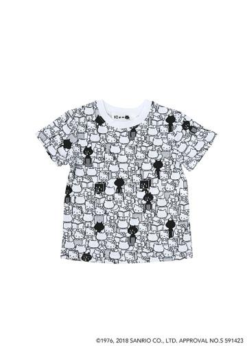 にゃー / キッズ 総柄にゃーとHELLO KITTY T / Tシャツ