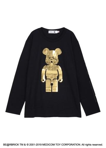 にゃー / にゃー × BE@RBRICK GOLD T / Tシャツ