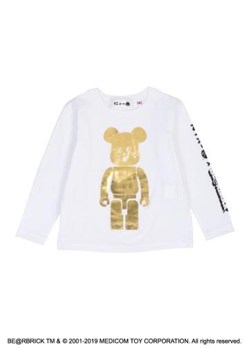 にゃー / キッズ にゃー × BE@RBRICK GOLD T / Tシャツ