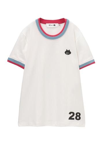 <先行予約> にゃー / ワンポイントにゃークルーネック T / Tシャツ