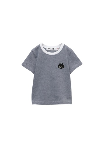 にゃー / キッズ にゃーナローボーダー T / Tシャツ