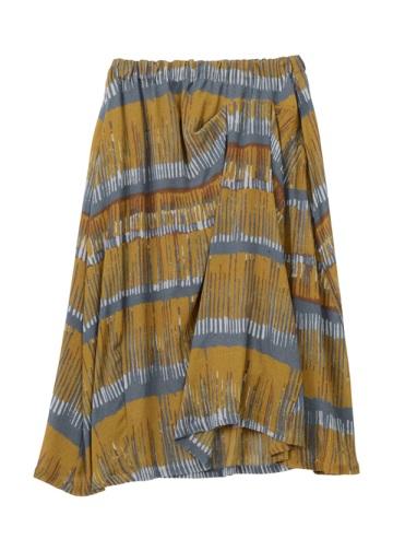 Plantation L-line / カスリボーダーCrepe / スカート