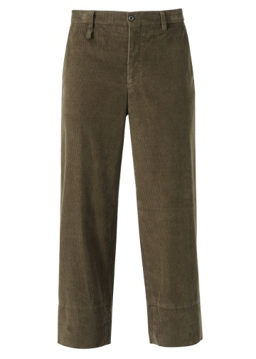 S corduroy straight pants