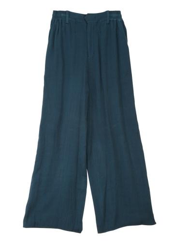 S rayon wool wide pants