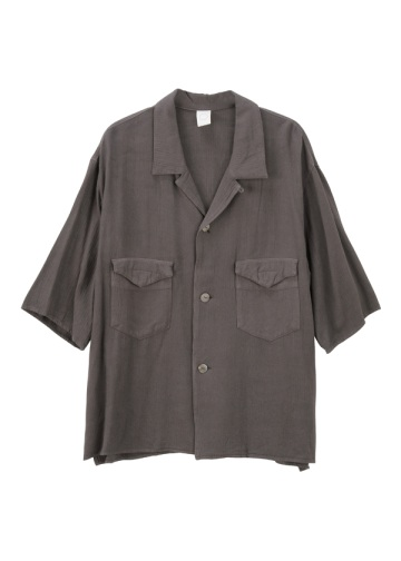S rayon wool open collar shirts